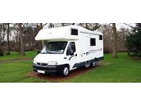 MOTORHOME WANTED OR CAMPER