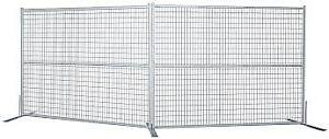 Galvanized Construction Fencing in Stock