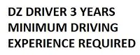 Seeking DZ Driver + 3 Years Experience Required