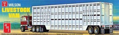 Van Trailer Kit - AMT Wilson Livestock Van Trailer semi trailer 1/25 model kit new 1106 *