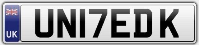 UNITED KINGDOM - Personalised Cherished Number Plate - UN17ED K