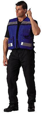 Reflective Safety Rescue Vest Blue Medic Ems Emt High Visibility Rothco 9521