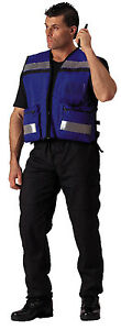 Reflective Safety Rescue Vest Blue Medic EMS EMT High Visibility Rothco 9521