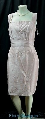 Lula Party (Lula Kate raw Shantung SILK blush party Dress fit & flare pockets SZ 16 NEW)