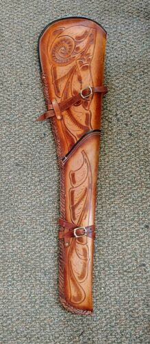Leather Rifle Scabbards Made in Mexico 33in Long