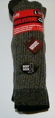 - Wolverine Merino Wool Over-the-Calf Boot Socks, Large, 2 pr $14.95+FREE SHIPPING