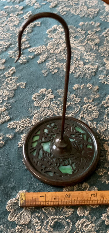 Antique Tiffany Studios New York #961 Grapevine Patterned Spindle/Invoice Holder