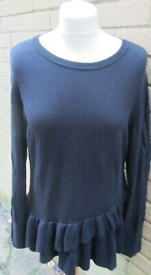 Isaac Mizrahi Live-Ladies Black Knitted Layered Top Size M