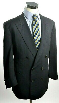 High Performance Charcoal (ERMENEGILDO ZEGNA High Performance Double Breasted Blazer SIZE 41R Charcoal Gray)