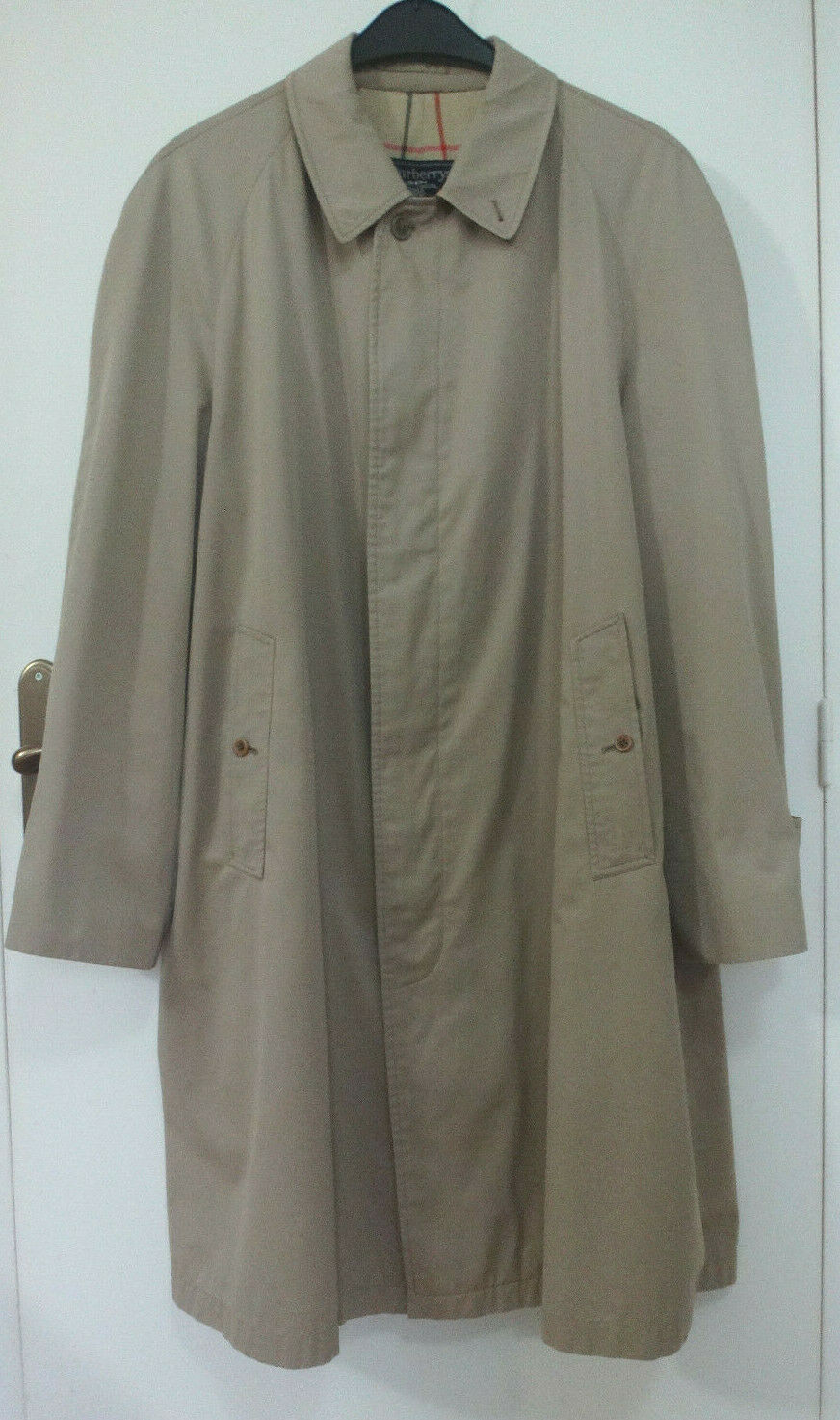 Burberry prorsum xl vintage veste manteau trench leger beige classic authentic