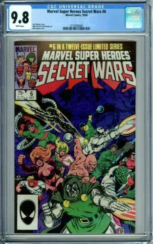 MARVEL SUPER HEROES SECRET WARS 6 CGC 9.8 WP New Non-Circulated CGC Case MARVEL