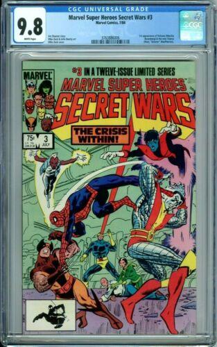MARVEL SUPER HEROES SECRET WARS 3 CGC 9.8 WP 1st VOLCANA & NEW TITANIA New Case