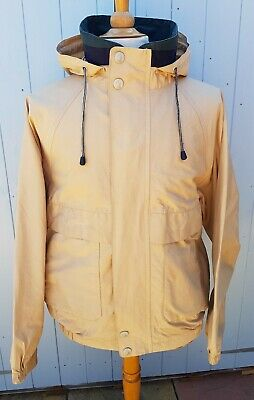 Nautica Hooded Jacket Beige Large Spellout Logo