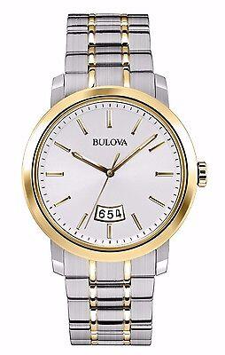 Bulova Men's 98B214 Quartz Two Tone Stainless Steel Dress Watch