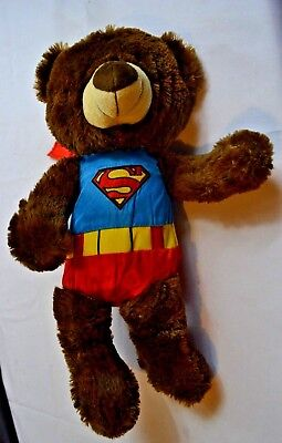 NEW Six Flags Super Man Costume Black Bear Stuffed Animal Plush Children's Kids  - Kids Black Bear Costume