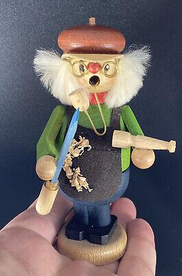 "STRACO GmbH ECHT Holzkunst Mit Herz Incense Smoker Germany 5"" Wood Carver"