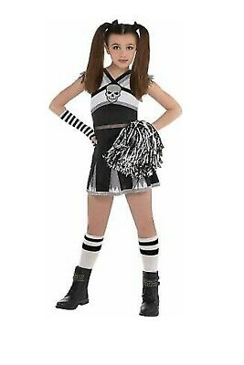 Cheerleader Costume For Halloween (AMSCAN Rah Rah Rebel Cheerleader Halloween Costume for Girls, Medium, with)