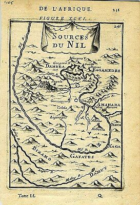 1683 Genuine Antique map of Sources of the Nile. A M Mallet