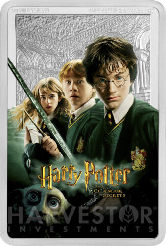 2020 HARRY POTTER AND THE CHAMBER OF SECRETS - POSTER COIN - 1 OZ. SILVER COIN