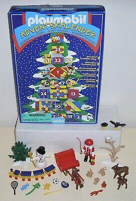 1997 Playmobil 3850 Christmas Advent Calendar Santa's Sleigh Winter Forest 100%