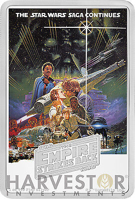 2017 STAR WARS EMPIRE STRIKES BACK POSTER COIN - 1 OZ. SILVER COIN - IN STOCK