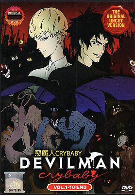 Devilman Crybaby Dvd Complete 1 10  Uncut Ver    English Audio Usseller Shipfast