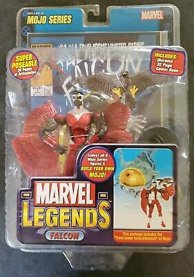 MARVEL LEGENDS--FALCON VARIANT--MOJO BAF SERIES-TOYBIZ-AVENGERS-SAM WILSON-NEW