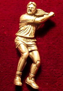Detailed-Pewter-Tennis-Player-Brooch-Pin-Signed