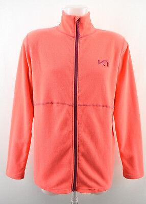 KARI TRAA Womens Fleece Orange Jacket Long Sleeve Zipped Lightweight Size XL