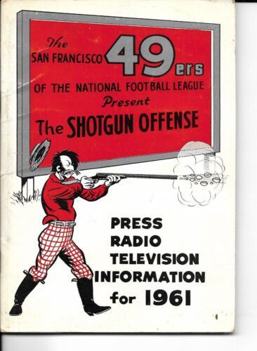 1961 San Francisco 49ers Media Guide Shotgun Offense NICE!!