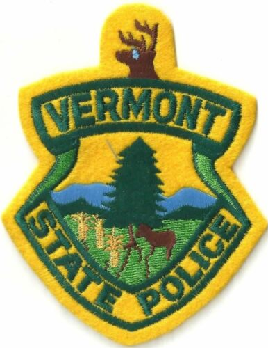 VERMONT STATE POLICE - SHOULDER PATCH - IRON OR SEW-ON PATCH