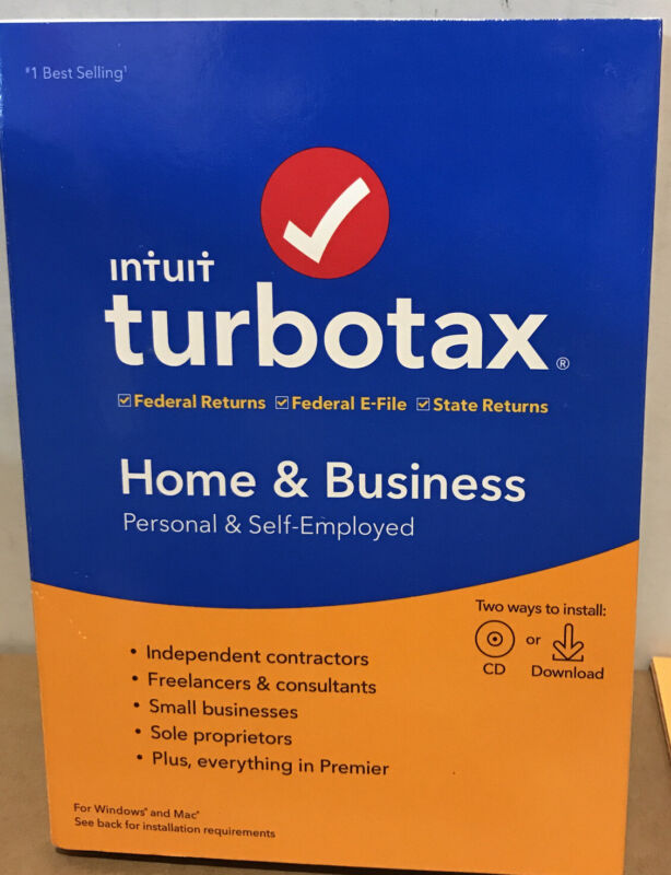 ⚡️TURBOTAX Home & BUSINESS Federal + STATE 2019  Retail SEALED CD / Download⚡️