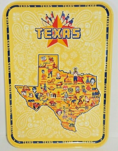 Texas State Melamine 9x13 Serving Tray Designed By Faye Passow for 180 Degrees