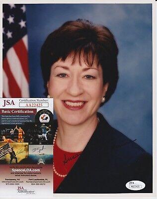 Susan Collins Signed 8x10 Photo w JSA COA #AA22425 Maine Senator Brett Kavanaugh
