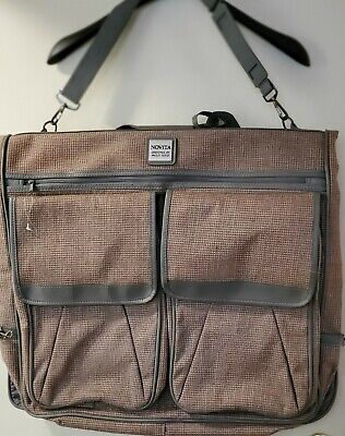 """Vintage Suitcase Luggage Novita Designed by Paolo Gucci 22"""" carry on RARE & NEW!"""