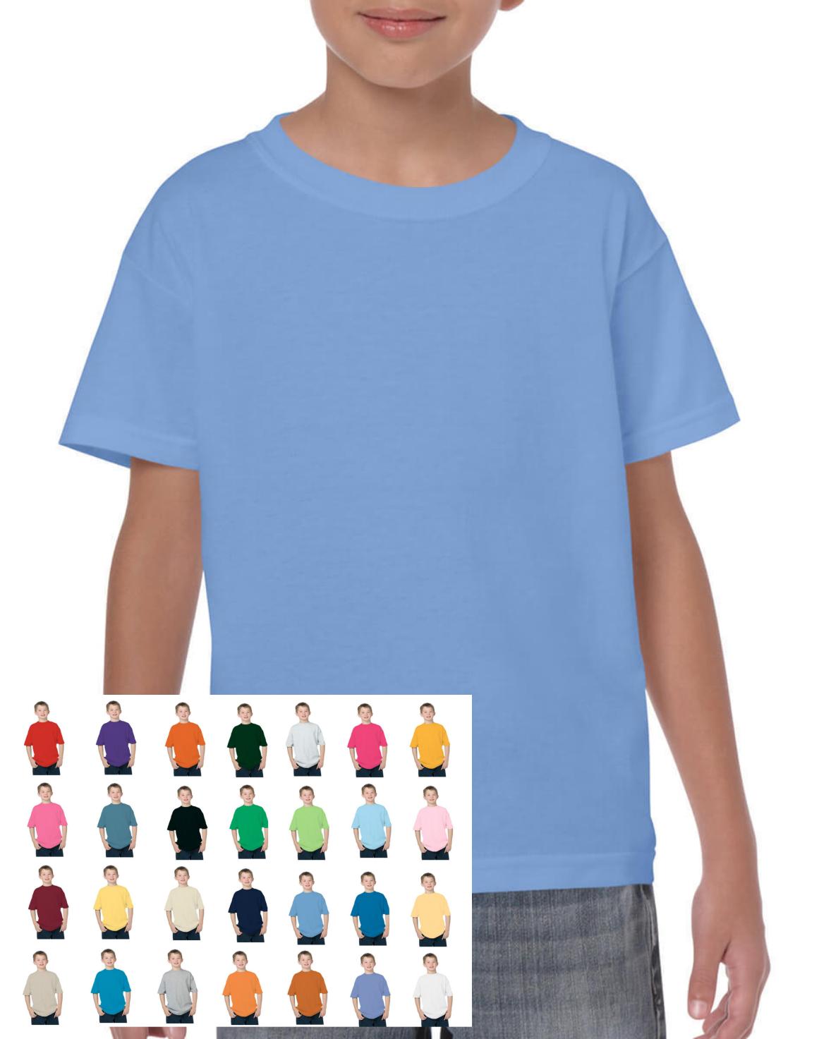 Gildan Youth Kid's Child Adult Cotton T-shirt Plain Blank G5