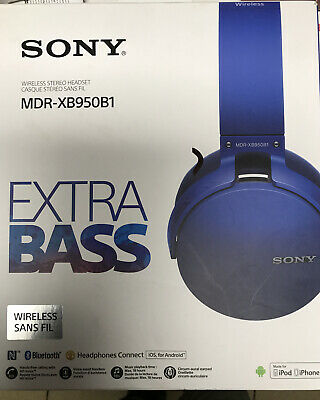 Sony MDR-XB950B1 EXTRA BASS Bluetooth Headphones (Blue)