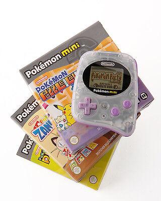 """2000 überrascht uns """"Pocket Pikachu"""", 2001 """"Pokémon Mini"""" – fürs Mikro-Handheld gibt's 10 Winzmodule. (© Gameplan.de)"""