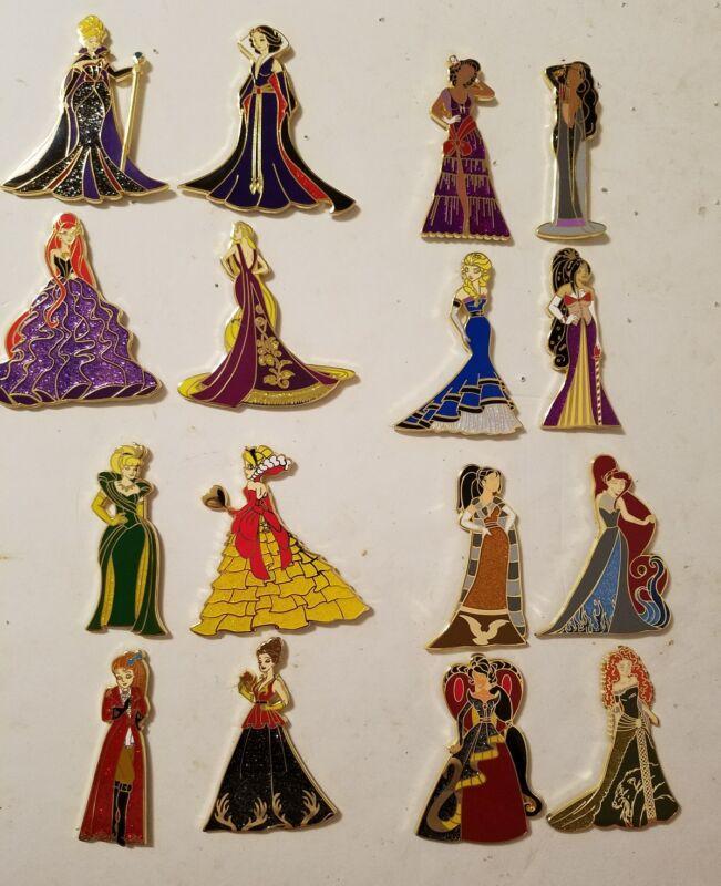 Disney Fantasy Pin Evil Beauties Series Complete set of 16  LE 75