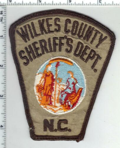 Wilkes County Sheriff (North Carolina) 2nd Issue Uniform Take-Off Patch