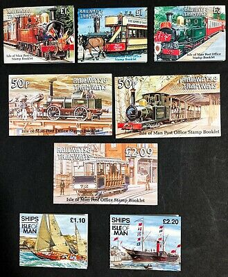 Lot of Isle of Man 6 Trains & 2 Ships Booklets MNH
