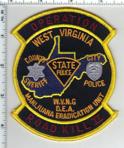 West Virginia State Police 1st Issue Operation Road Kill Shoulder Patch