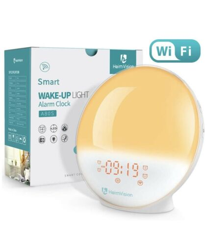 HEIMVISION A80S WAKE UP LIGHT ALARM CLOCK SMART CONTROL NEW