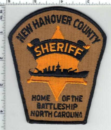 New Hanover County Sheriff (North Carolina) 4th Issue Uniform Take-Off Patch