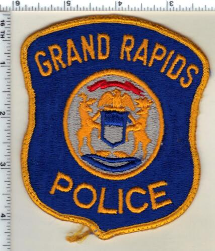 Grand Rapids Police (Michigan) Uniform Take-Off Shoulder Patch from 1980