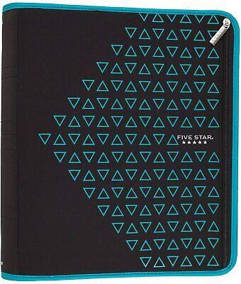 Five Star Zipper Binder 2 Inch 3 Ring Binder Xpanz Teal Triangles