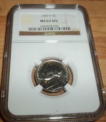 Click now to see the BUY IT NOW Price! 1987 P JEFFERSON NICKEL NGC MS67 6 FULL STEPS 6FS