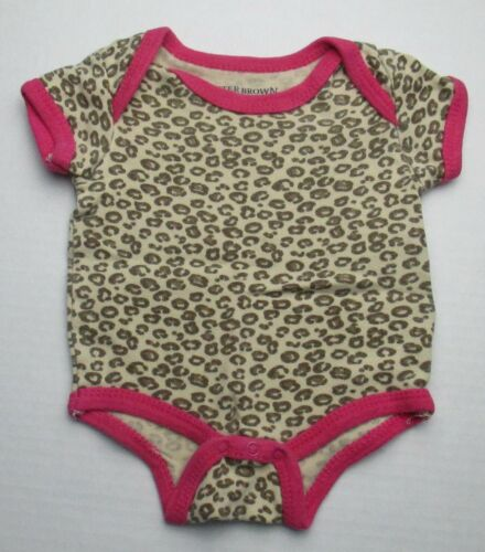 Infant Baby Girls 0-3 months Buster Brown Animal Print Shirt