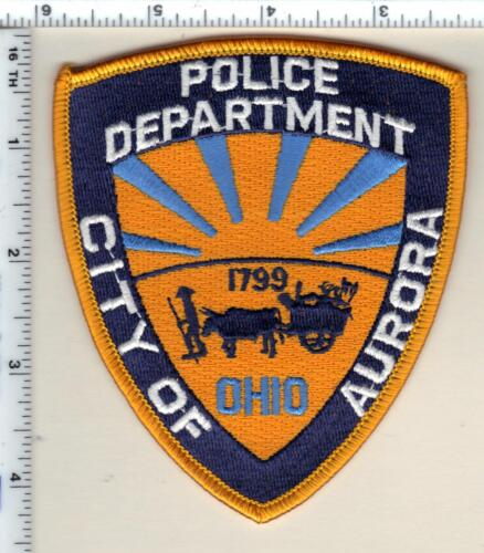 City of Aurora Police (Ohio) Shoulder Patch from 1991