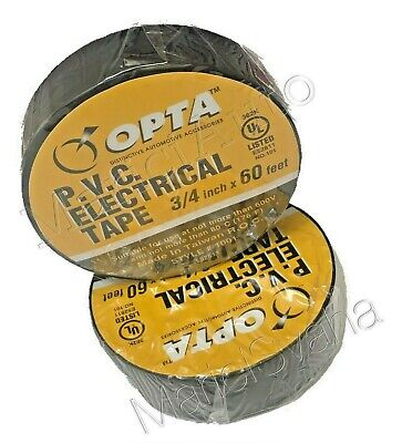 2x Rolls Temflex Vinyl Electrical Tape Black 34 X 60 Feet Insulated Electric